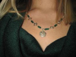 Green Necklace by DanikaMilles