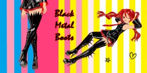 Black Metal Boots (download) by YamiSweet