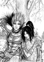 Gan Ning and Ling Tong by Autumn-Sacura