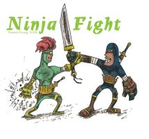 Ninja Fight by DerrickEwing