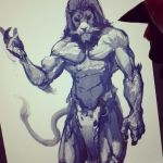 Sketching with Monkeylion by Daviddleonluis