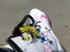 Flowers On And In My Shoes by SquigglyButterfly