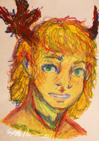 Oil Pastel practice by MangoCrusher