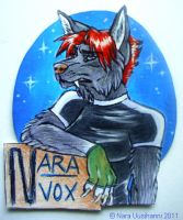 Nerd badge for myself by naravox