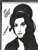 Amy Winehouse Stencil by mariartworks