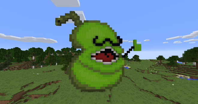 The Minecraftian Pear (with moustache) by TheRoberTNT