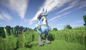 Minecraft: Lucario by jeaglej