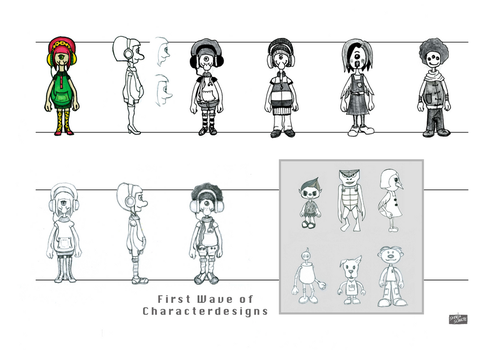 Monster Grrrrl: First Wave of Characterdesigns by GwenStacy