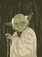 Star Wars - Master Yoda by Juggernaut-Art