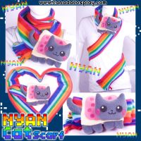 2011 Nyan Cat Kitten Scarf by calgarycosplay