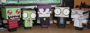 Invader Zim Paper Craft by SleeplessWinter