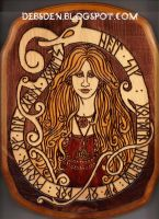 Sif Pyrography by DebsDen