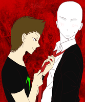 Yaoi Slenderman and elrubiusOMG by EddaAkatsukiller