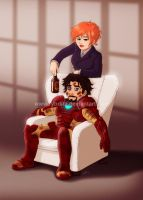Pepper and Tony by ryodita