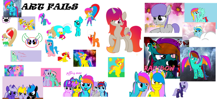 Art Fails and first drawings XD by RainbowGlow55555