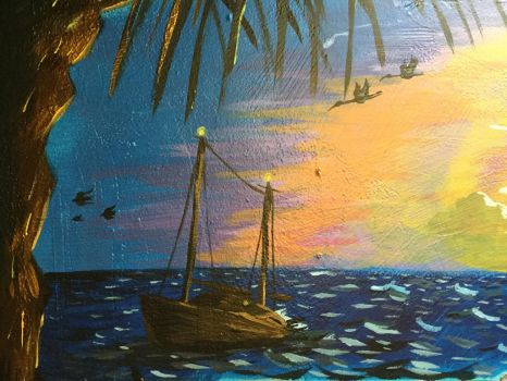 Acrylic Schooner by kahlure