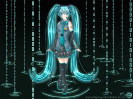Vocaloid - Digital Rain by Blue--Rosa