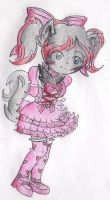 Clarice in a Pink Lolita Outfit by CreamPuff-Pikachu