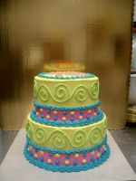 colorful grad cake by The-EvIl-Plankton