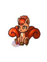 Vulpix by Nattie-Bun