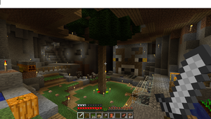 Minecraft Cave Dwelling by theloonert