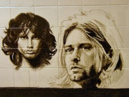 school mural: Jim and Kurt by deadhead16mb