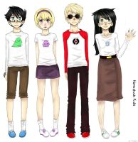 Homestuck Kids by tentacles-ri