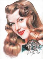 Rita Hayworth by dilhermandodidi