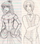Messy sketches by Marth-kun