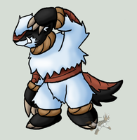 Yeti fakemon by eeveelution-lover
