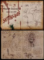 2014 OCT Concept Sketches 4 - Skitterlings by RobinRone