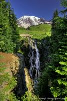 Myrtle Falls and Mt Rainier by La-Vita-a-Bella