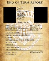 Hogwarts Report Card Template by sarahsaintly