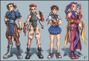 Street Fighter Girls by HecM