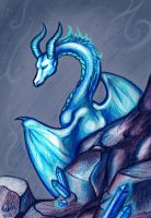 Just blue dragon by Tabia