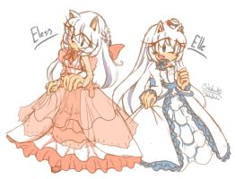 Elesis and Elle by 1412Shadow