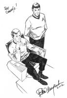 Star Trek sketch commission by elena-casagrande