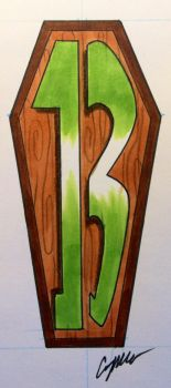 Friday the 13th Coffin Tattoo Design by NarcissusTattoos