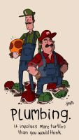 The Super Mario Brothers. by stayte-of-the-art