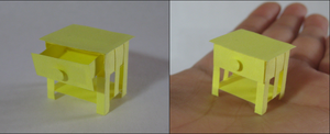Yellow End Table by SkulkingYegg