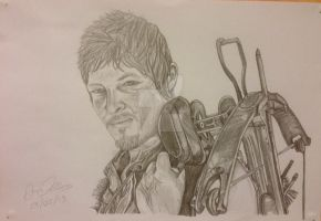 Daryl Dixon (Norman Reedus) Pencil Sketch by AimzzArt