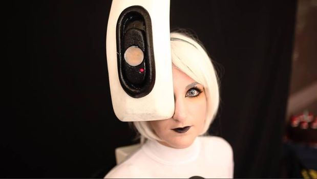 GLaDOS close up by moonlightspirit