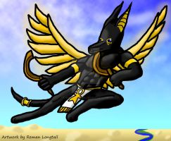Winged Jackal by remanlongtail