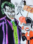 The Joker and Harley Quinn  by HappyArequipe