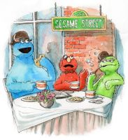 Sesame Street by Sapiains