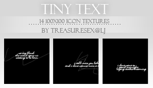 Tiny Text by treasuresex