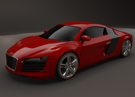 Audi r8 test render by koleos33
