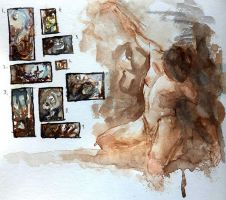 Watercolor Sketches by Andantonius