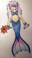 Unnamed Mermaid Character by angelofcryinghearts
