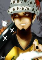 Trafalgar Law and Bepo by InuXama